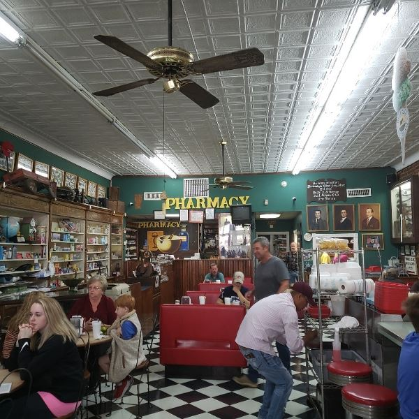 Borroums Drug Store in Fulton TN est. 1865 during the Civil war is still run by the same family.