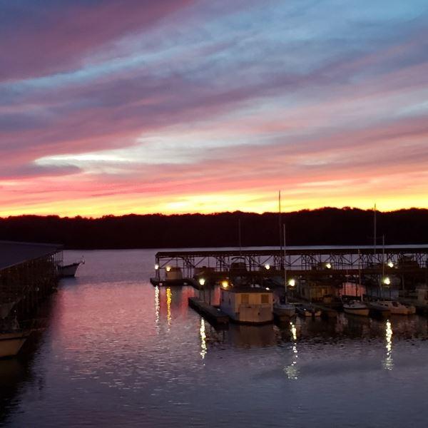 Sunset at Columbus Marina, MS.