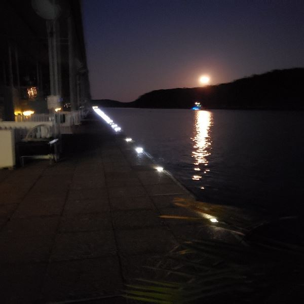 Moon rise and sunset at Midway Marina