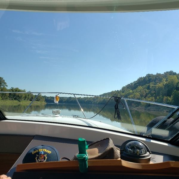 Coming into the Cumberland River