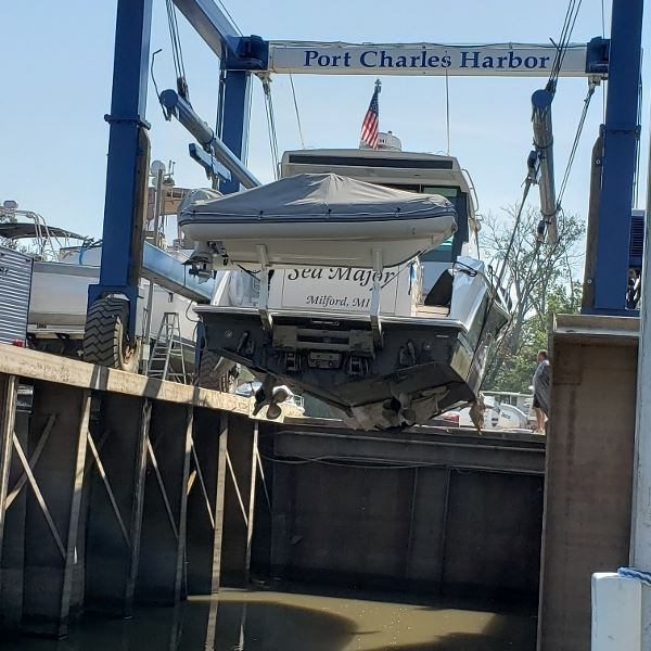 Oops, prop repair in Port Charles, always carry a spare I say.